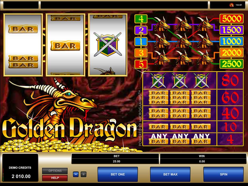 Zdarma online automat Golden Dragon