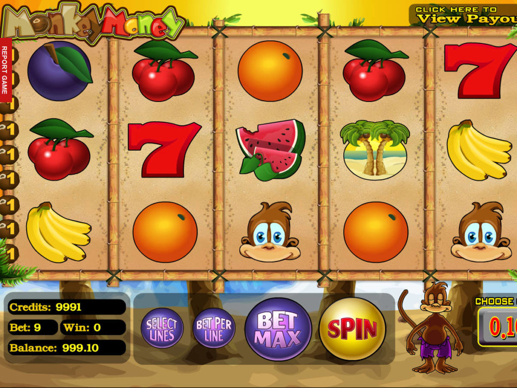 Herní automat Monkey Money zdarma