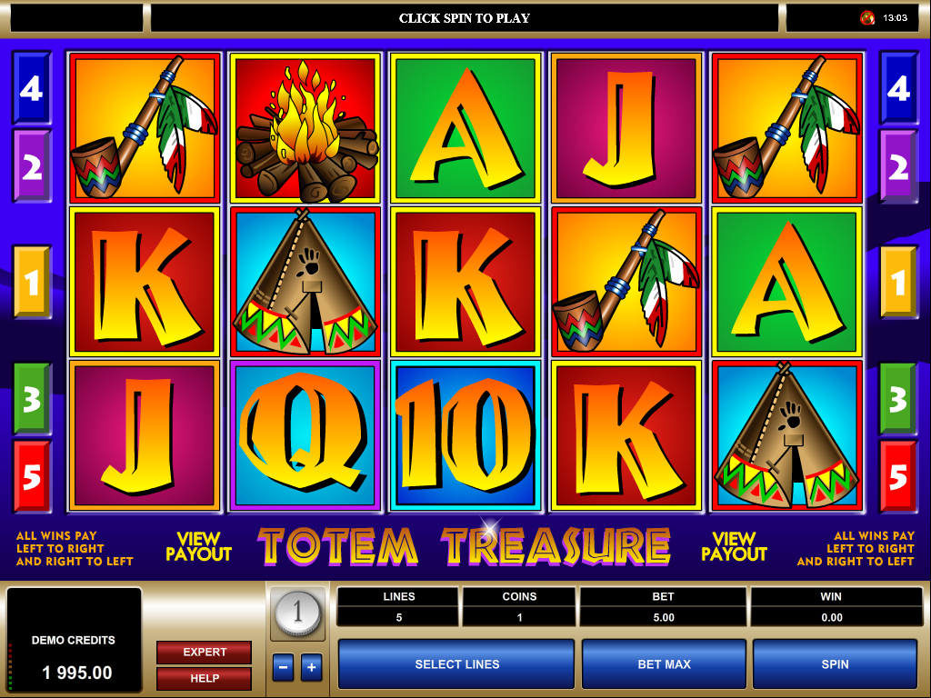 Herní casino automat Totem Treasure od společnosti Microgaming
