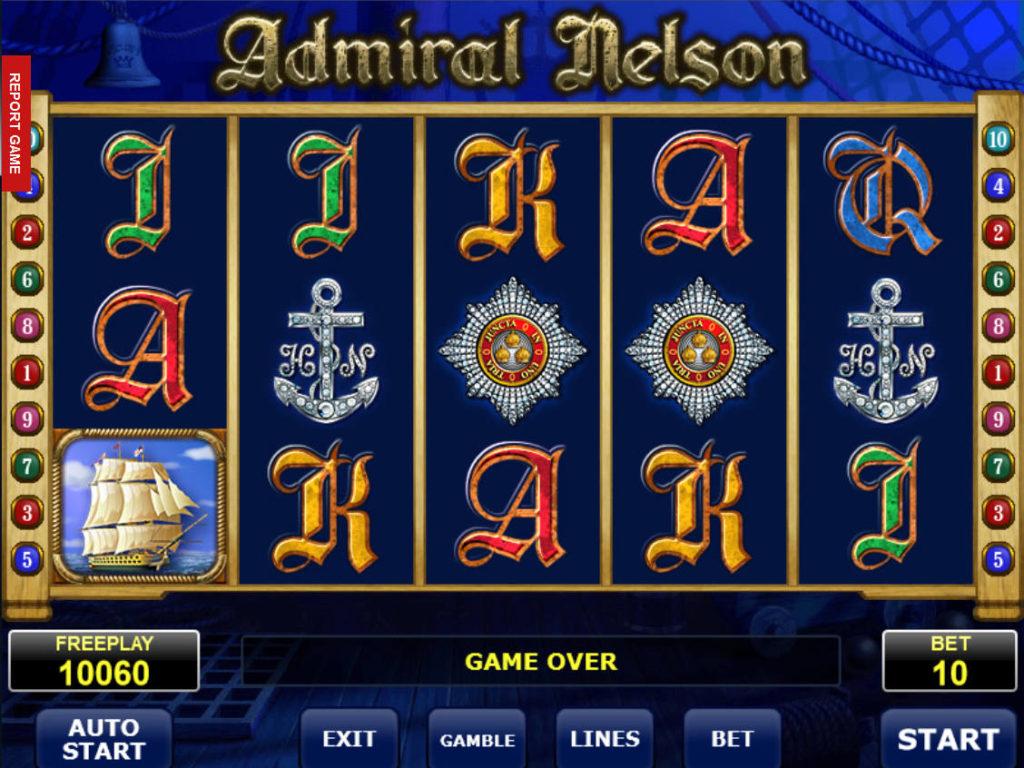 Výherní automat Admiral Nelson zdarma, bez vkladu