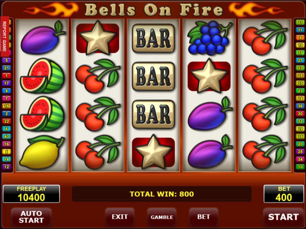 Zahrajte si online casino automat Bells on Fire zdarma