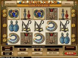Hrací casino automatu Cleopatra's Treasure