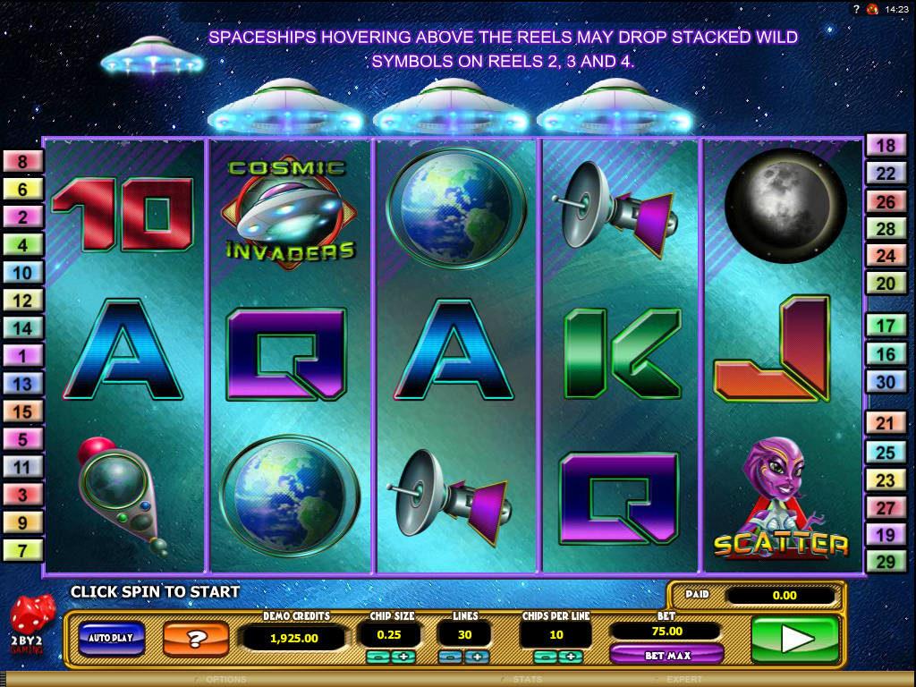 Herní kasino automat Cosmic Invaders