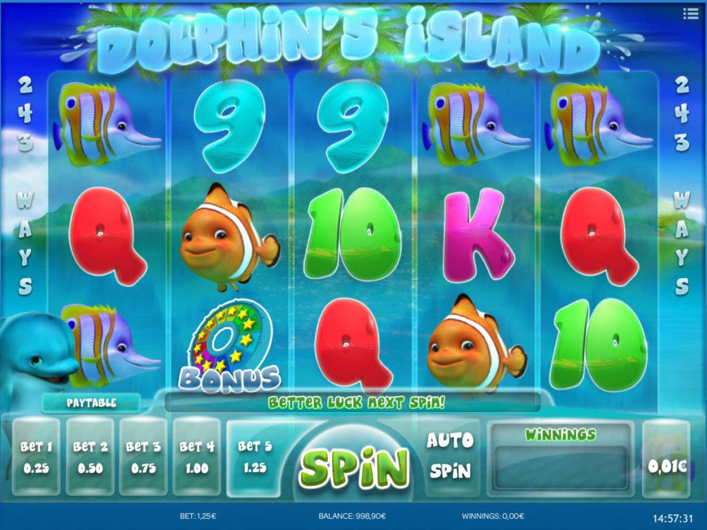 Obrázek ze hry automatu Dolphin's Island online