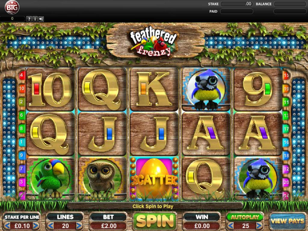 Automat Feathered Frenzy od společnosti Big Time Gaming