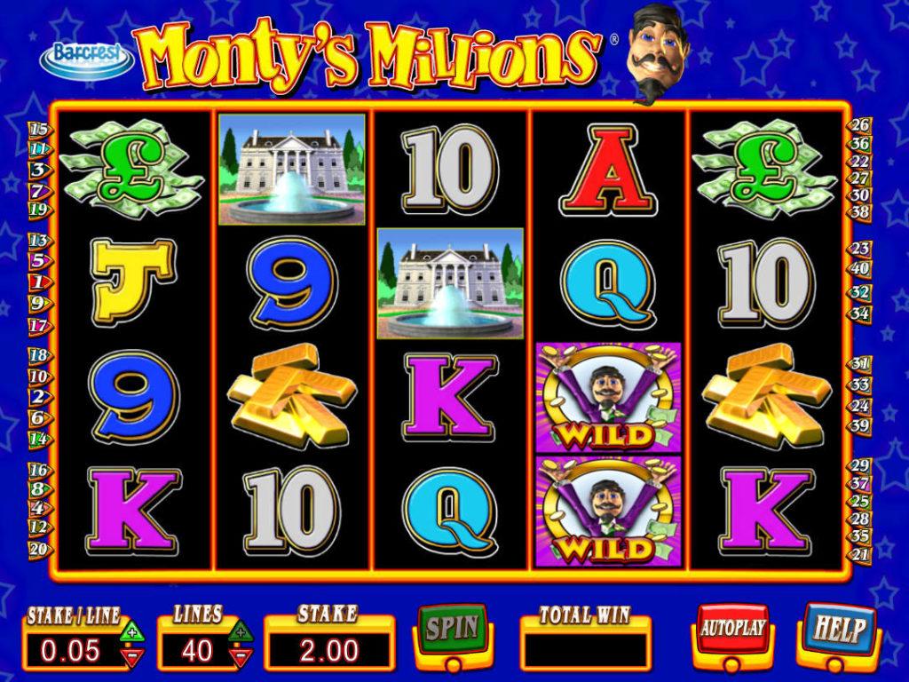 Obrázek ze hry automatu Monty's Millions