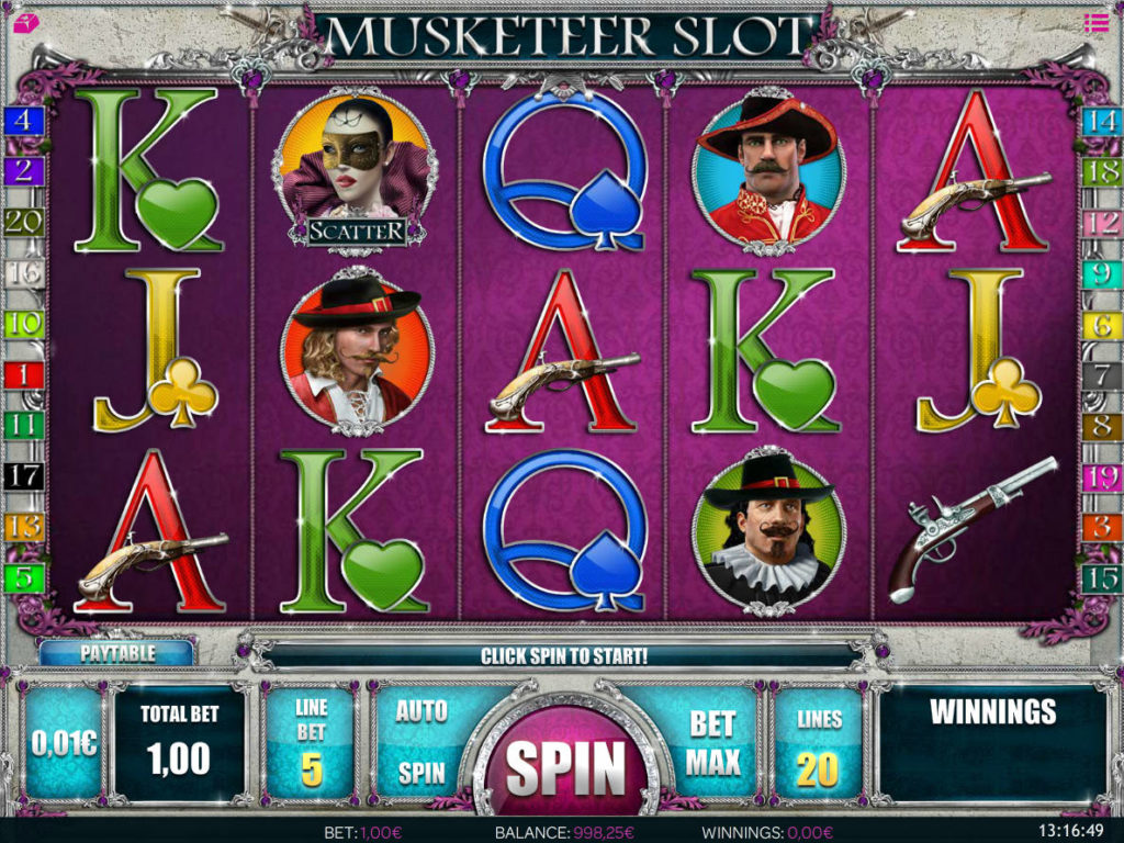 Kasino automat Musketeer Slot