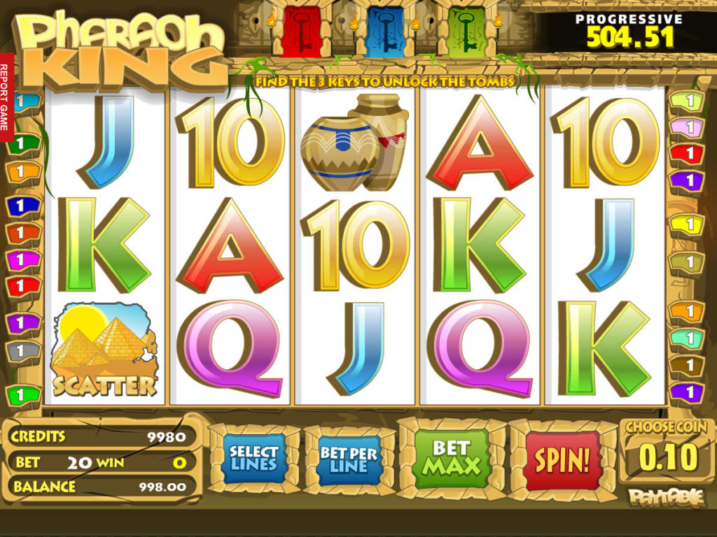 Pharaoh King online casino automat