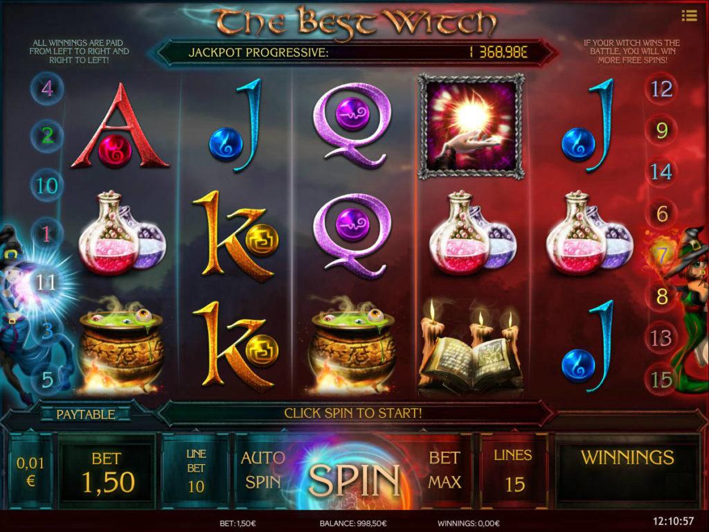 Herní kasino automat The Best Witch