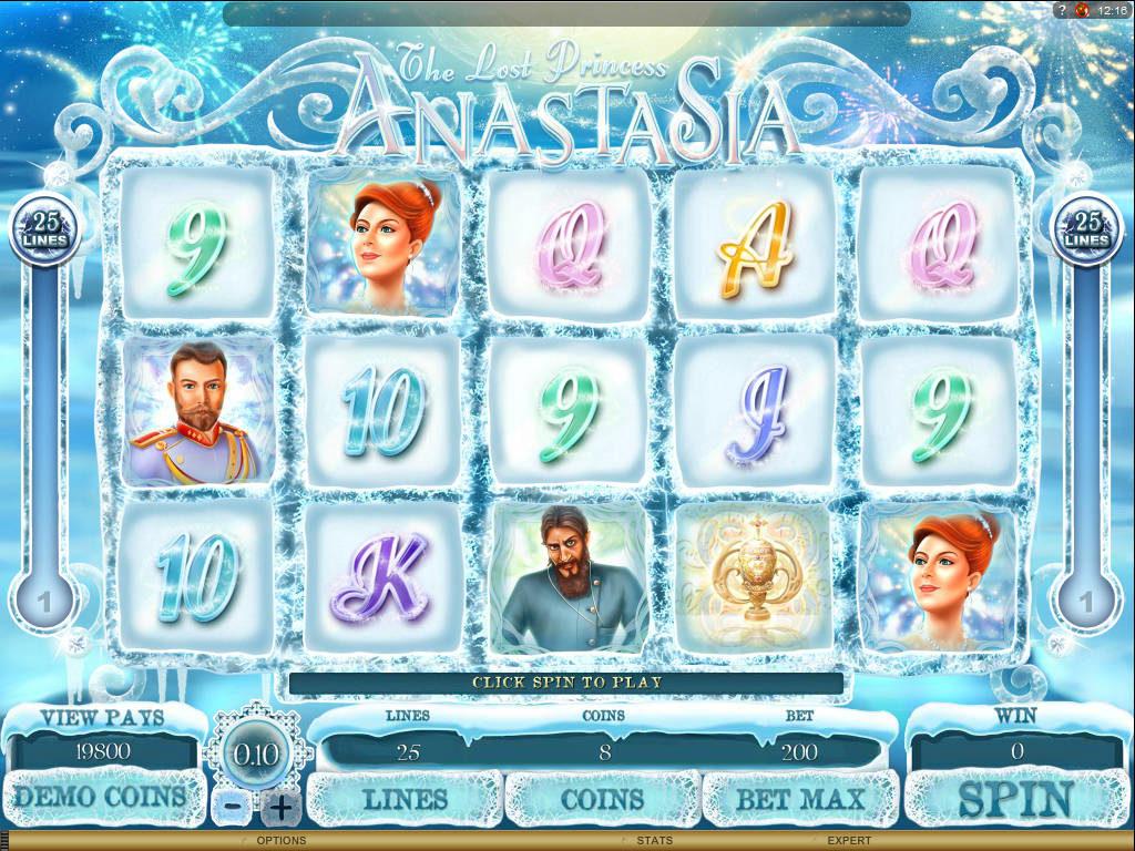 Hrací automat zdarma The Lost Princess Anastasia