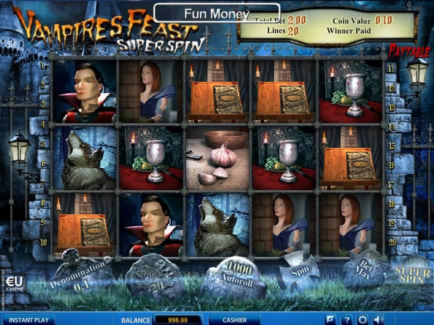 Vampires Feast Super Spin automat od společnosti Skillonnet