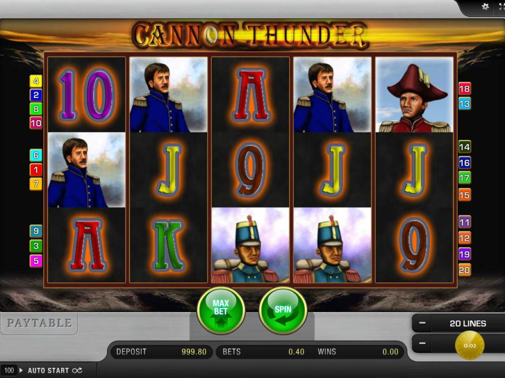 Casino automat Cannon Thunder online