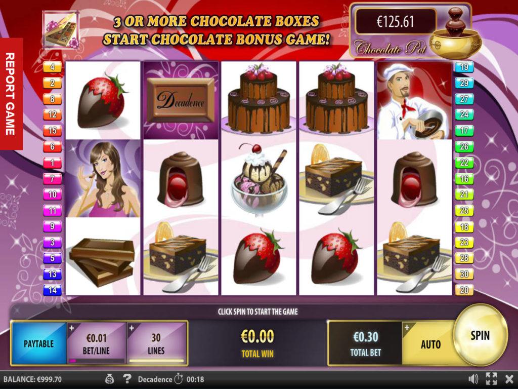 Casino automat Decadence zdarma, bez vkladu