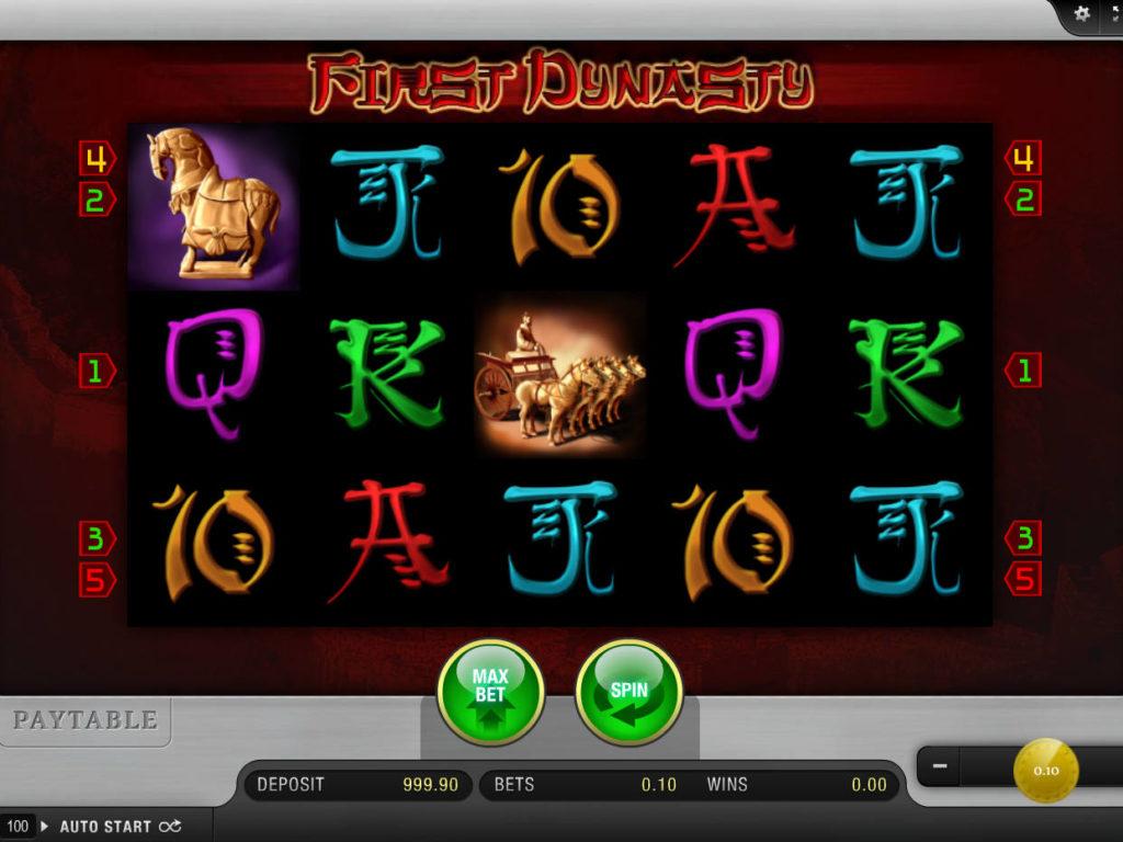 Zahrajte si casino automat First Dynasty zdarma