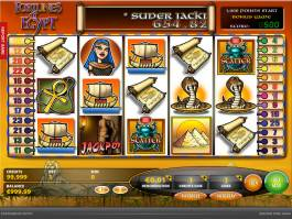 Casino automat Fortunes of Egypt zdarma, bez vkladu