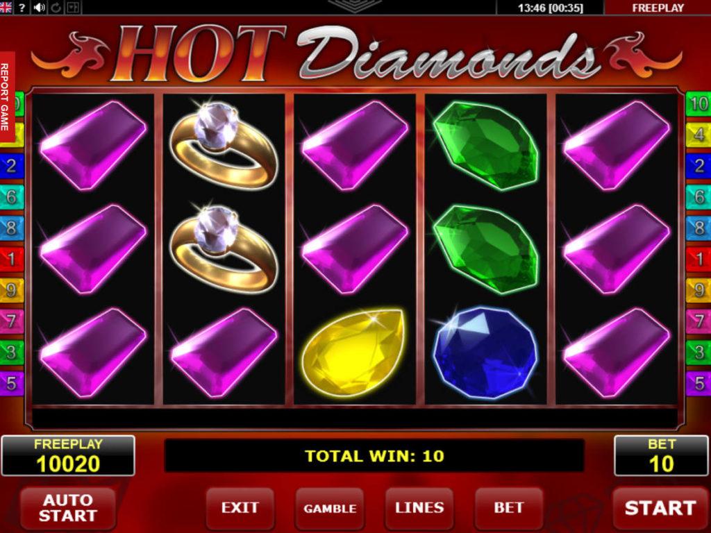 Obrázek online casino hry Hot Diamonds