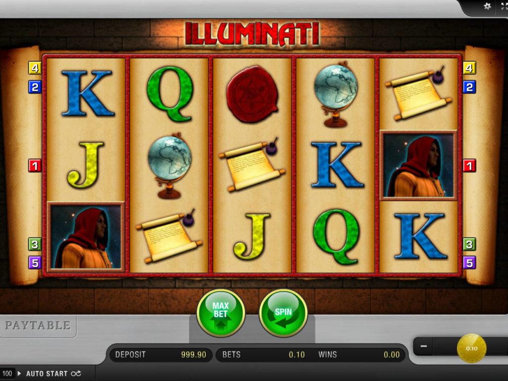 Casino automat Illuminati bez vkladu