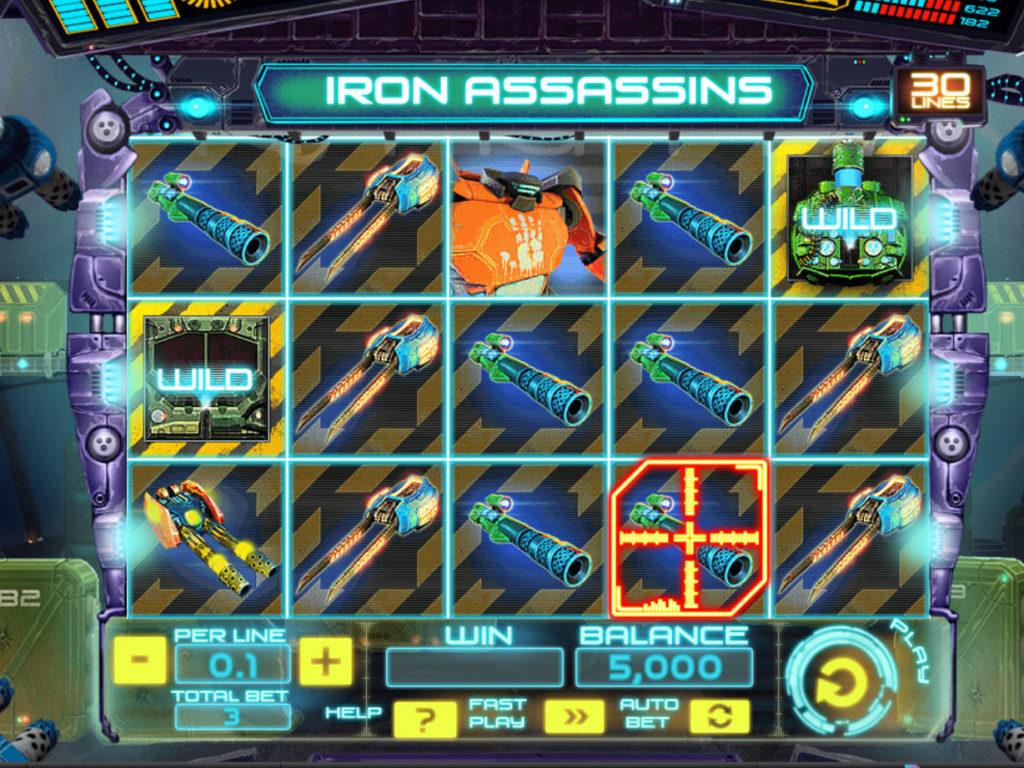 Casino automat Iron Assassins od společnosti Spinomenal