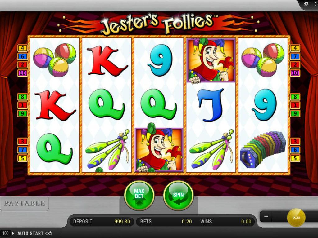 Hrací automat Jester's Follies bez stahování