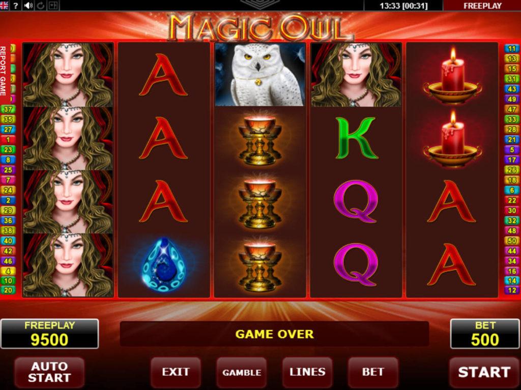 Casino automat Magic Owl bez vkladu
