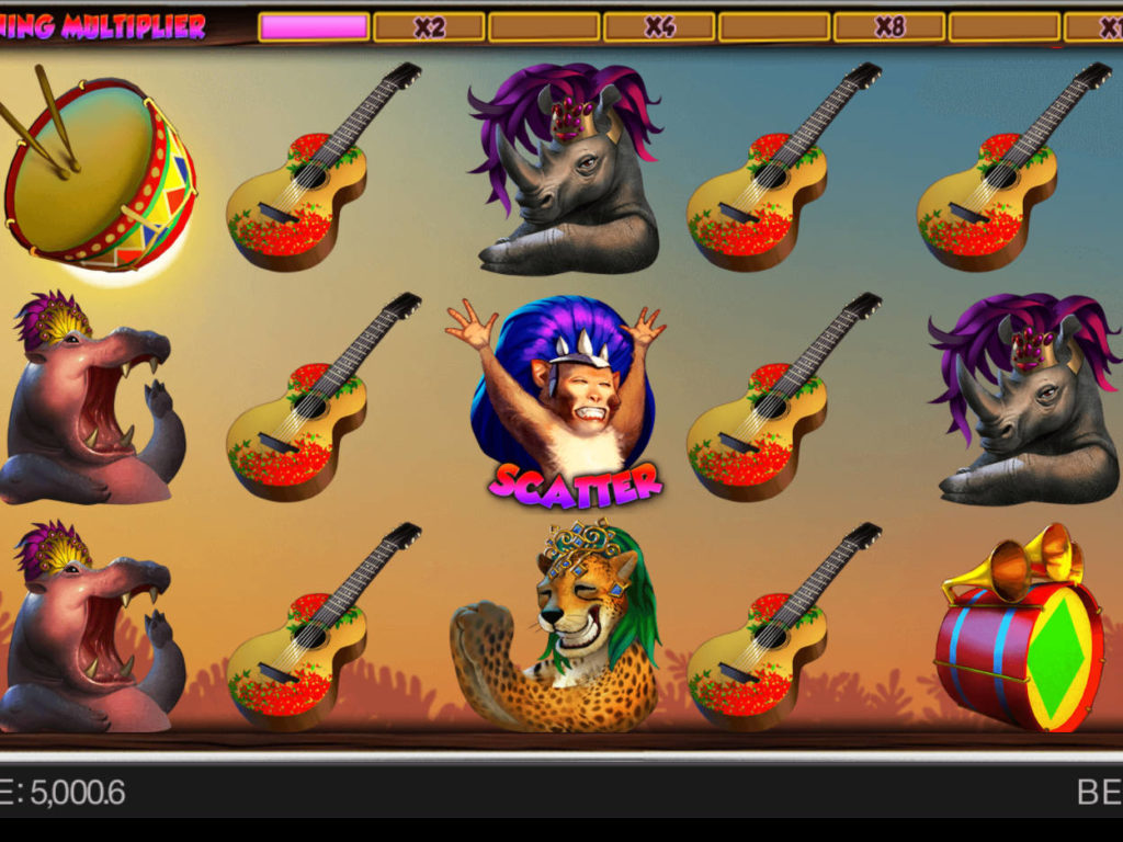 Roztočte casino automat Safari Samba