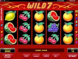 Zdarma automatová casino hra Wild 7 bez stahování