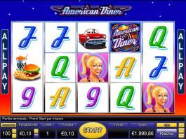 Online casino automat American Diner od společnosti Novomatic