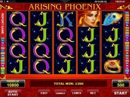 Zahrajte si online automatovou casino hru Arising Phoenix