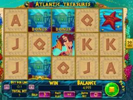 Zábavná automatová hra Atlantic Treasures bez stahování