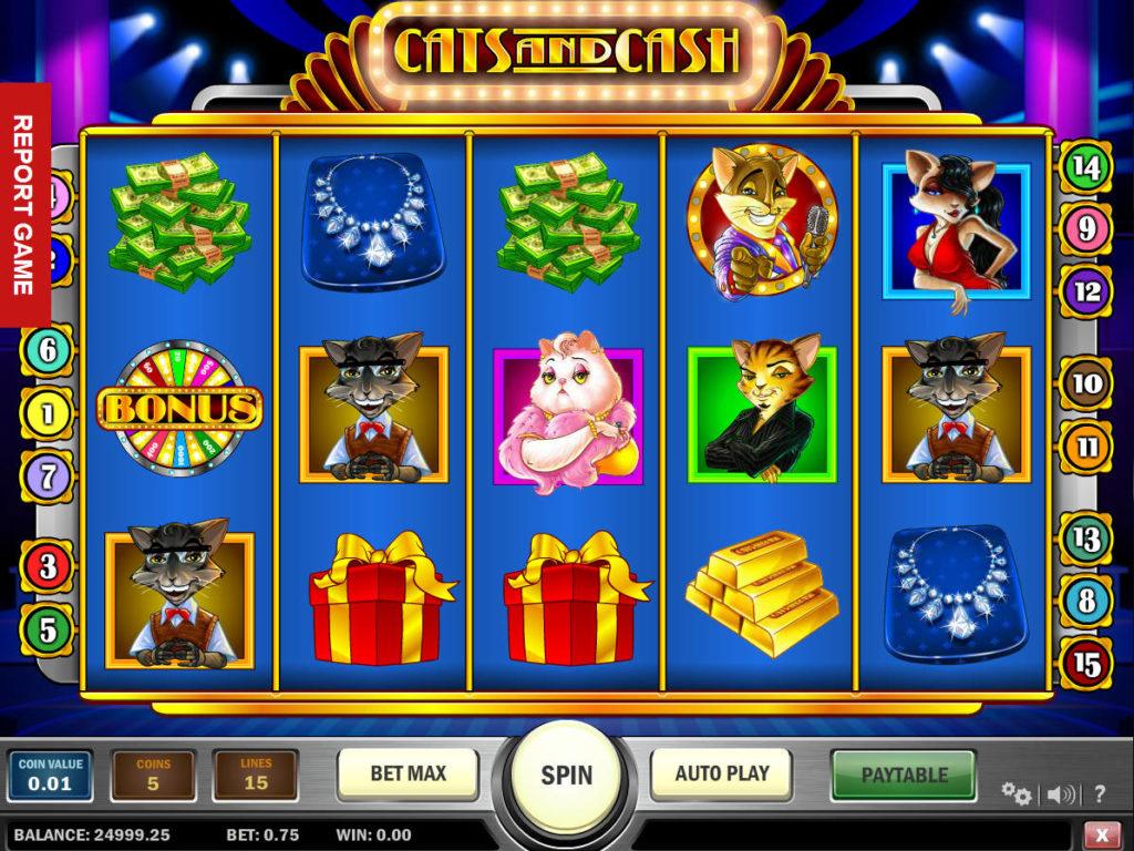 Online herní automat Cats and Cash bez registrace