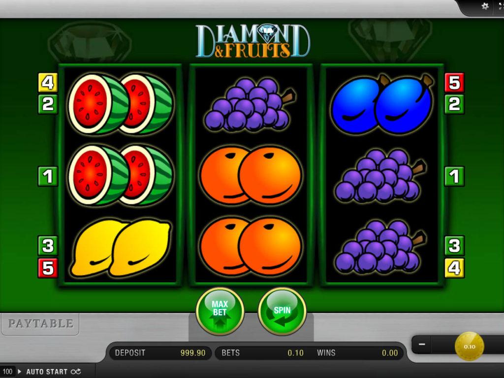 Online casino automat Diamond and Fruits