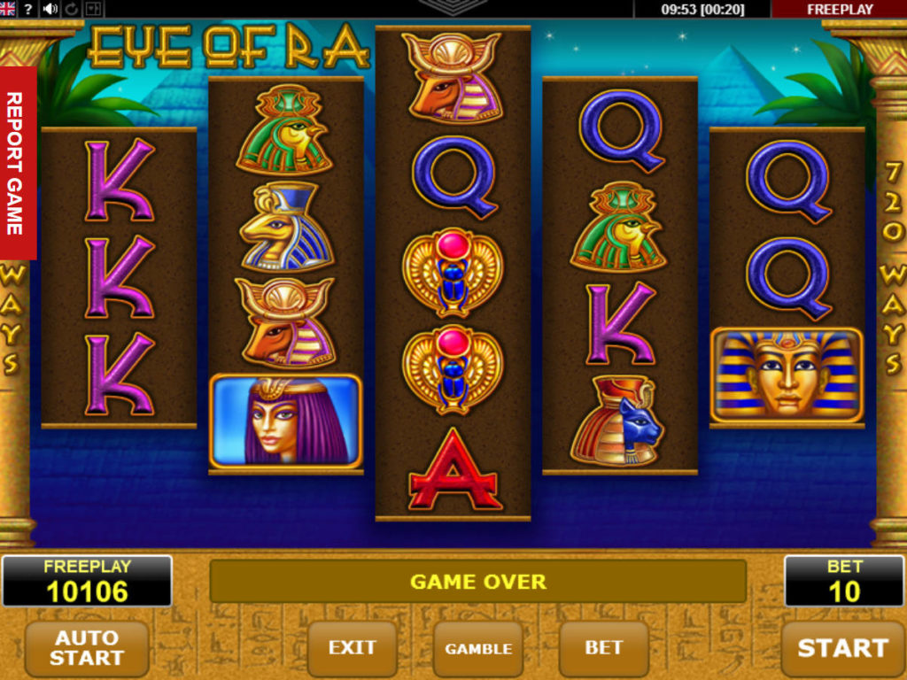 Online casino automat Eye of Ra
