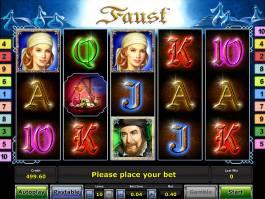 Roztočte online hrací automat Faust