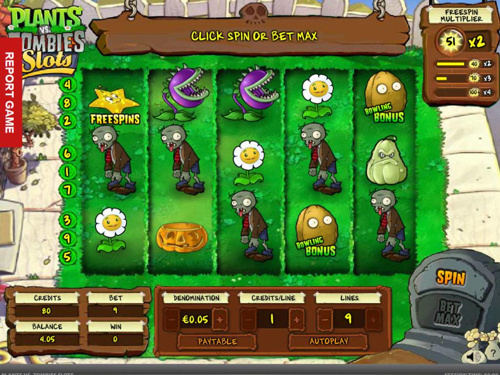 Zahrajte si online herní automat Plants vs. Zombies zdarma