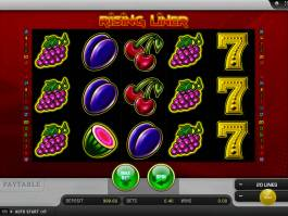 Roztočte online casino automat Rising Liner
