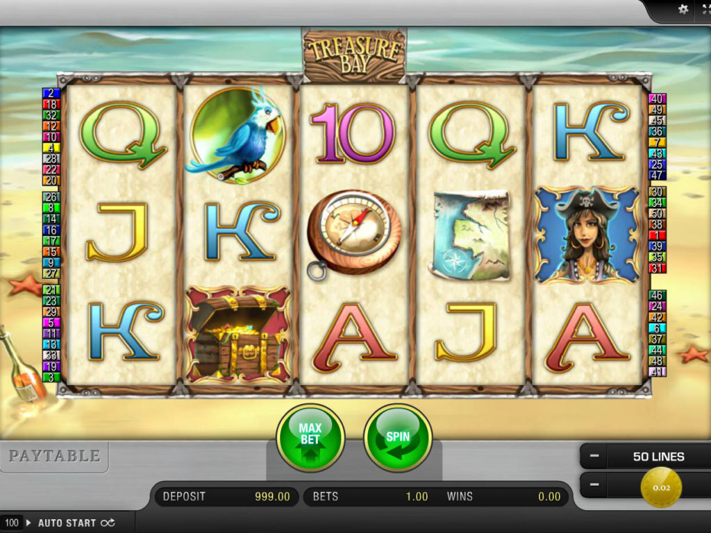 Hrací automat Treasure Bay zdarma, bez registrace