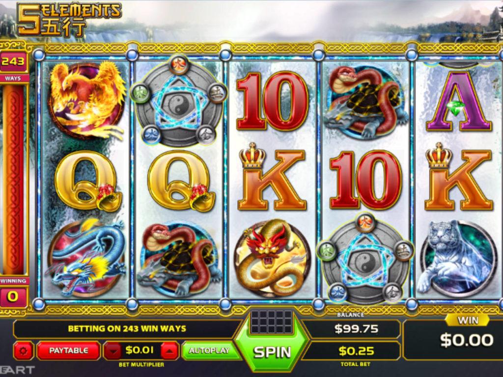 Casino automat 5 Elements zdarma