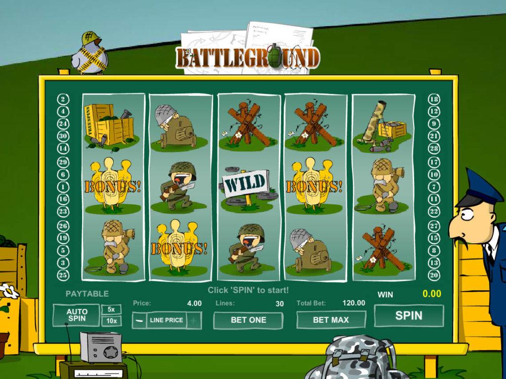 Online herní automat Battleground Spins