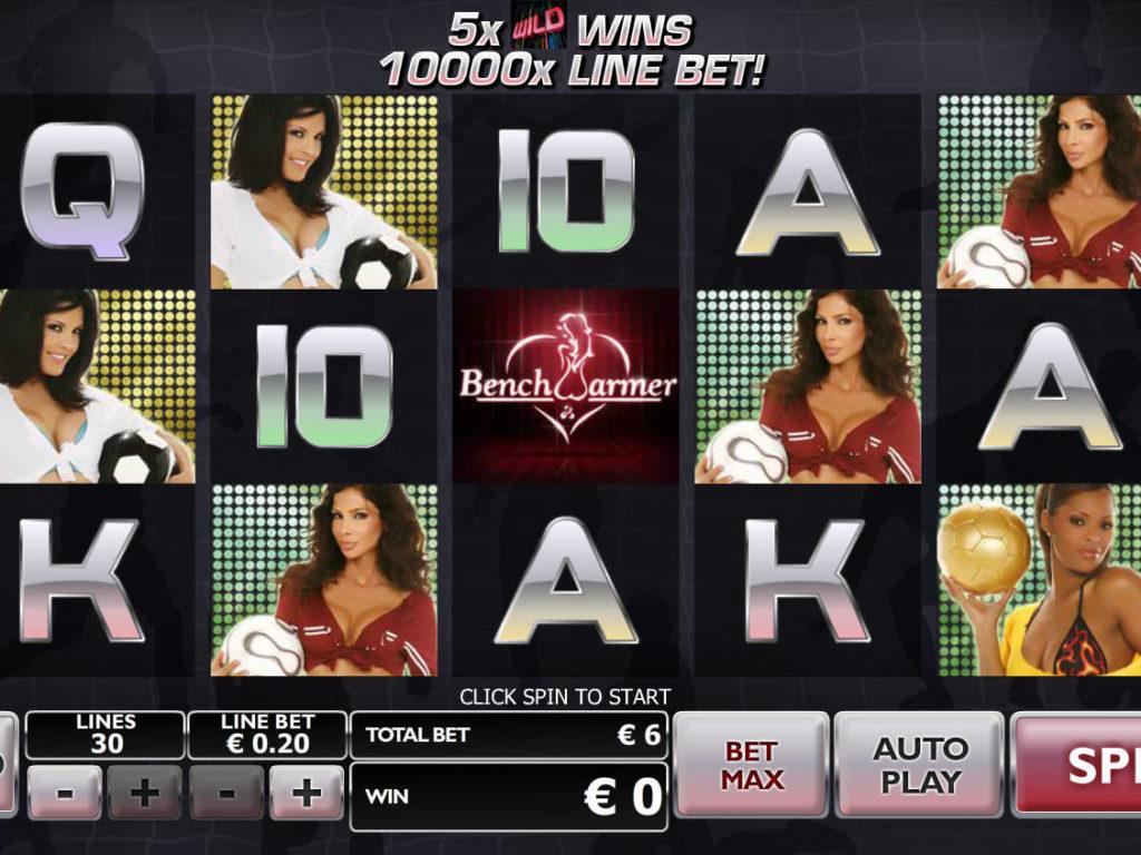 Casino automat Benchwarmer Football Girls
