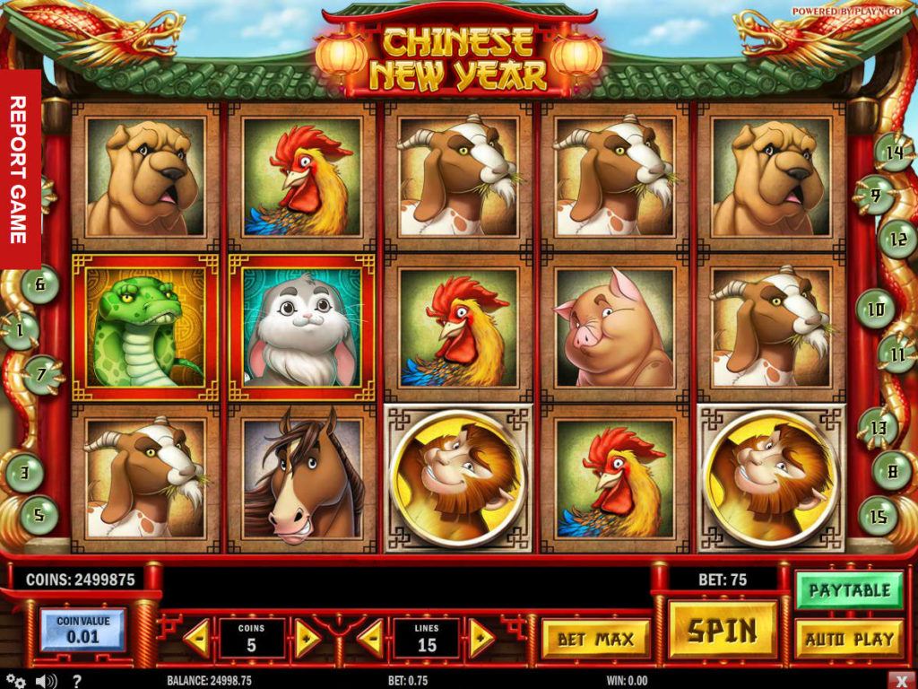 Herní automat Chinese New Year zdarma, bez stahování