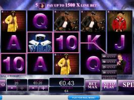 Obrázek z automatové casino hry Chippendales