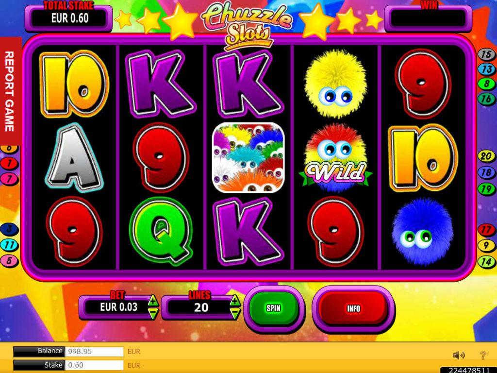 Herní automat Chuzzle zdarma, bez stahování
