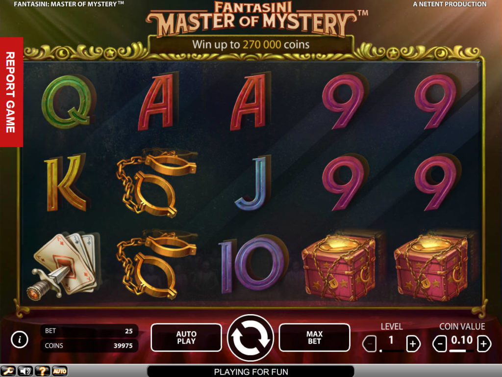 Roztočte casino automat Fantasini: Master of Mystery