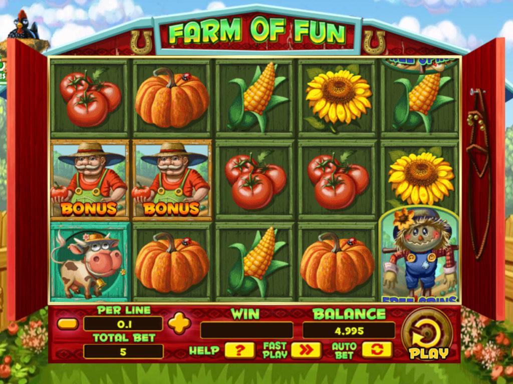 Casino automat Farm of Fun zdarma
