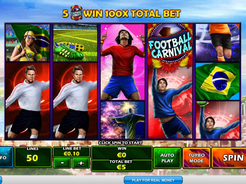 Online casino automat Football Carnival