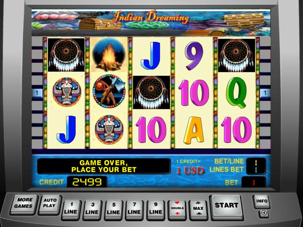 Online casino automat Indian Dreaming zdarma, bez vkladu