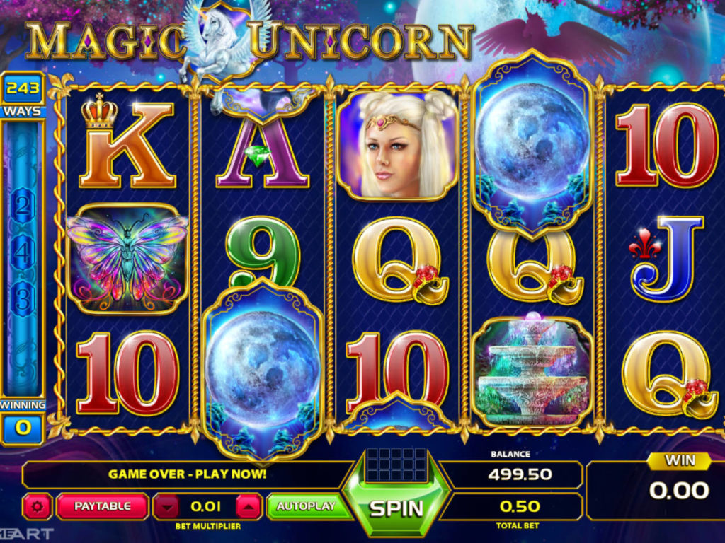 Obrázek z casino automatu Magic Unicorn online