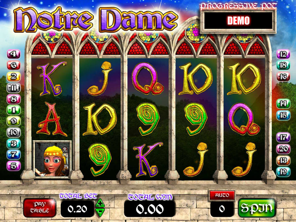 Roztočte casino automat Notre Dame zdarma