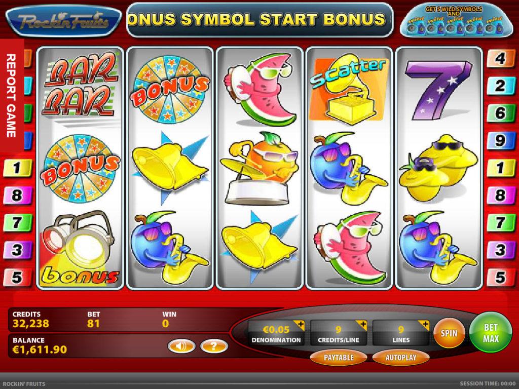 Casino automat Rockin Fruits online
