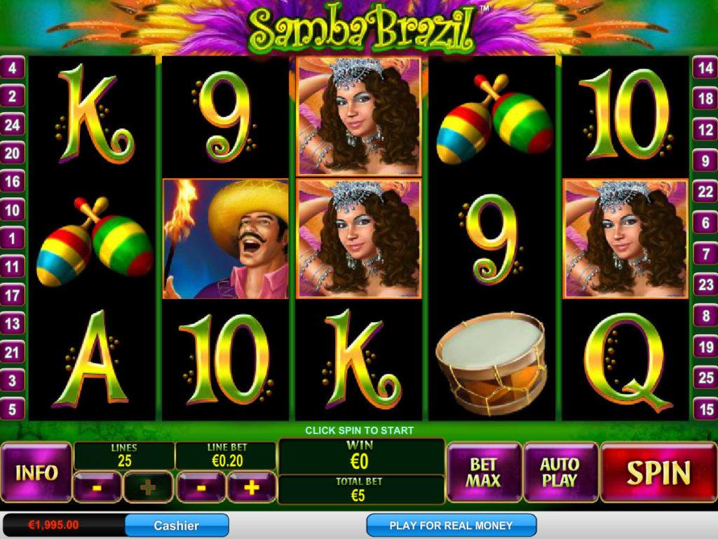 Roztočte casino automat Samba Brazil zdarma